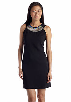 Julia Jordan® Beaded Necklace Shift Dress
