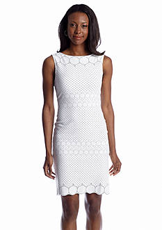 Julia Jordan® Sleeveless Eyelet Sheath dress