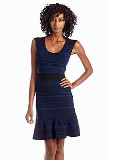 Julia Jordan® Striped Sweater-dress