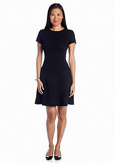 Julia Jordan® Cap-Sleeve Fit and Flare dress