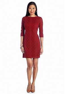 Julia Jordan® Soft Knit Lace Dress