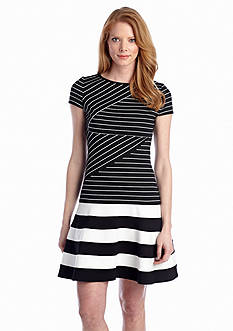 Julia Jordan® Striped Drop-waist Dress