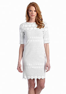 Julia Jordan® Hexagon Rio Knit Sheath Dress
