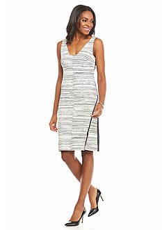 Julia Jordan Scuba Cutout Back Sheath Dress