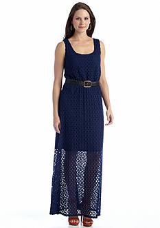 Luxology™ Crochet Belted Maxi