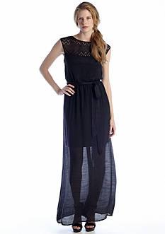Luxology™ Cap Sleeve Maxi Dress