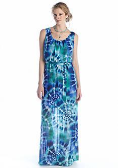 Luxology™ Sleeveless Printed Maxi-Dress