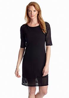 Luxology™ Elbow-Sleeve Shift Dress
