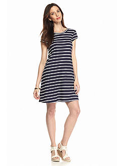 Luxology™ Striped Trapeze Dress
