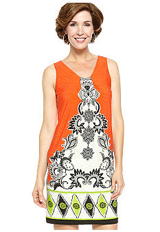 Madison Leigh Sleeveless Printed Shift Dress