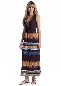 Madison Leigh Sleeveless Printed Maxi Dress