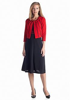Madison Leigh Three-Quarter Sleeve Jacket Dress