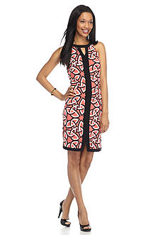 Madison Leigh Printed Halter Shift Dress