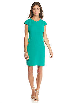 Madison Leigh Cap-Sleeve Shift Dress