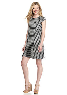 Madison Leigh Striped Trapeze Dress