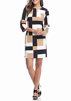 Madison Leigh Colorblock Shift Dress