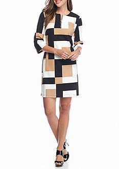 Madison Leigh Colorblock Shift Dress