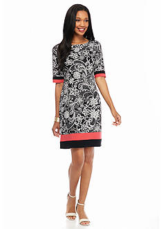 Madison Leigh Printed Sheath Dress