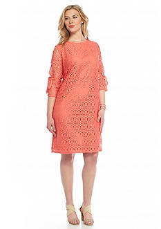 Madison Leigh Plus Size Lace Shift Dress