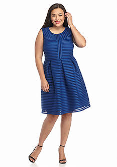 Madison Leigh Plus Size Sleeveless Fit and Flare Dress
