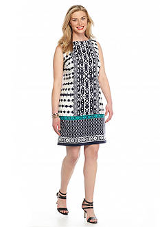 Madison Leigh Plus Size Printed Trapeze Dress