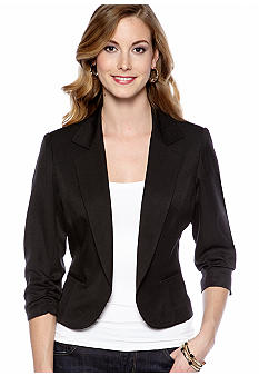 New Directions Three-Quarter Sleeved Notch Collar Jacket