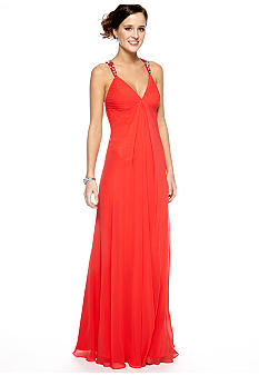 Be by Jay Reynolds Bead and Sequins Halter Gown