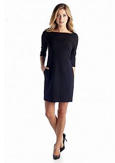 Betsey Johnson Three-quarter Sleeve Sheath Dress