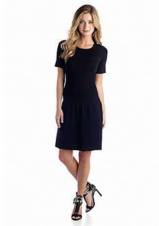 Short-Sleeve Drop-waist Dress