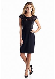 Betsey Johnson Cap-Sleeve Sheath Dress