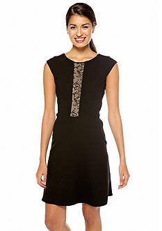 Betsey Johnson Cap-Sleeved Fit and Flare Dress