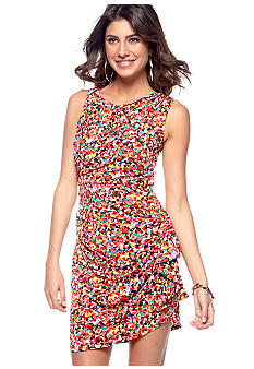 Betsey Johnson Sleeveless Printed Matte Jersey Dress