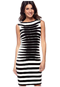 Betsey Johnson Sleeveless Stripe Shift Dress