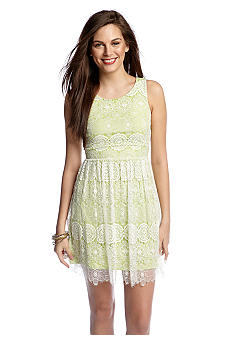 Betsey Johnson Sleeveless Allover Lace Party Dress