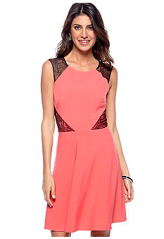 Betsey Johnson Sleeveless Fit and Flare Dress