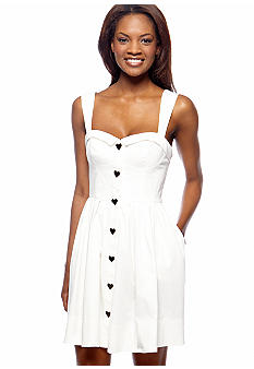 Betsey Johnson Sleeveless Sweetheart Neck Sundress