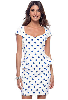 Betsey Johnson Peplum Dot Sheath Dress