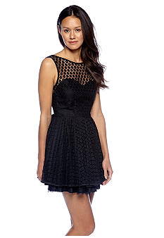Betsey Johnson Sleeveless Allover Lace Dress