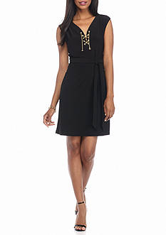 Soho Lace-Up Jersey Dress