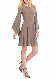 Soho Bell-Sleeve Fit and Flare Dress