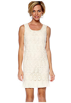Soho Sleeveless Allover Lace Sheath Dress