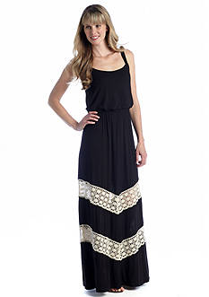 Soho Sleeveless Maxi Dress with Crochet Insets
