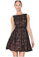 Isaac Mizrahi New York Soutache Party Dress with Embellished Waist