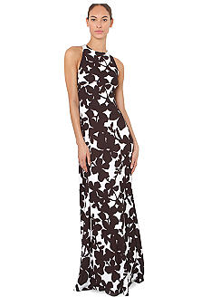 Isaac Mizrahi New York Sleeveless Floral Printed Maxi Dress