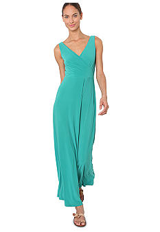 Isaac Mizrahi New York Sleeveless Surplice Maxi Dress
