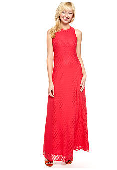 Isaac Mizrahi New York Sleeveless Allover Lace Gown