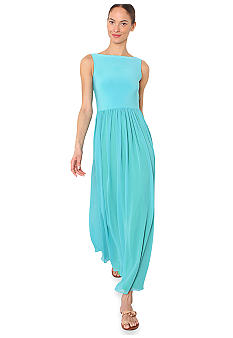 Isaac Mizrahi New York Sleeveless Chiffon Maxi with Open Back