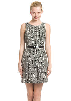 Plenty by Tracy Reese Dresses Sleeveless Belted Fit and Flare Dress