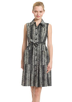 Plenty by Tracy Reese Dresses Sleeveless Printed Shirtdress