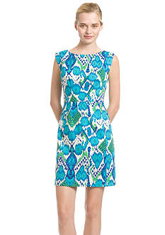 Plenty by Tracy Reese Dresses Cap-Sleeve Printed Sheath Dress
